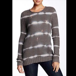 Autumn Cashmere Tie-Dye Torn Sweater